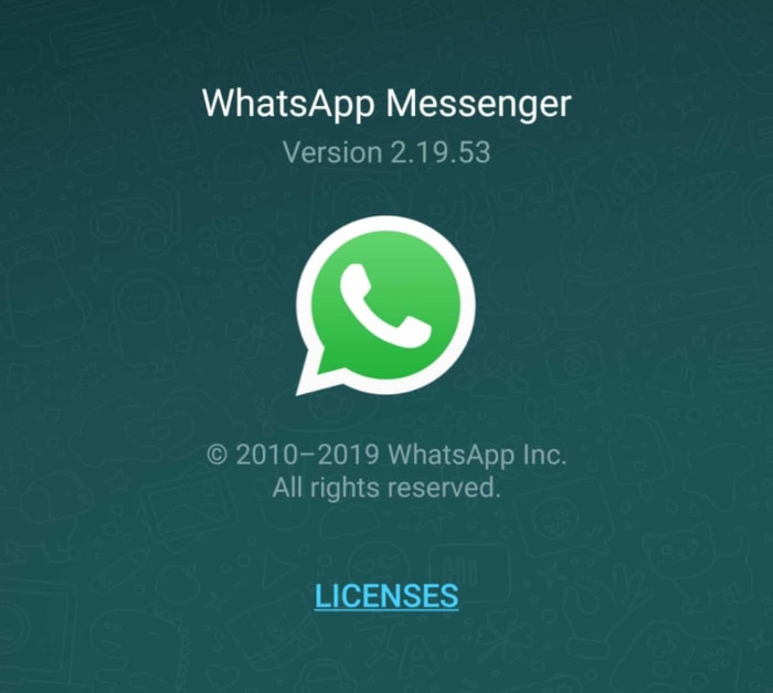 The official WhatsApp will look like this
