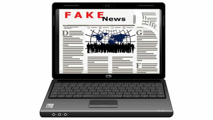 Fake news on your laptop