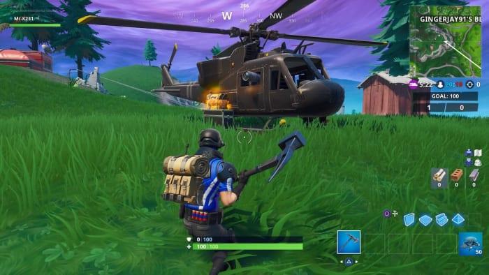 fortnite season 8 helicopter