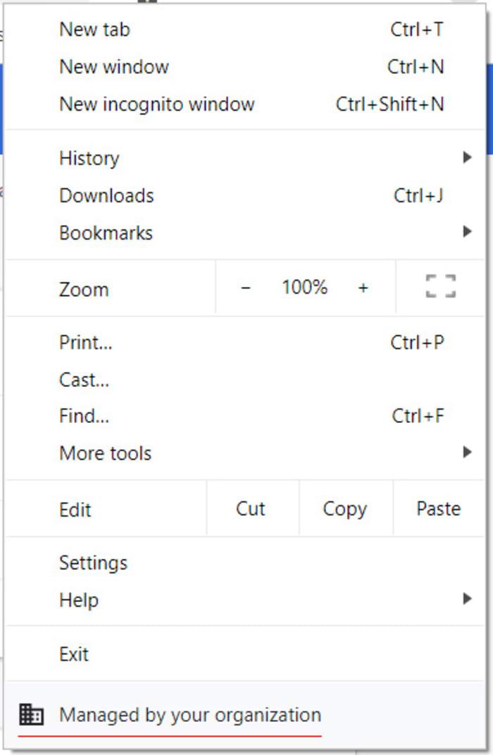 new chrome settings menu message