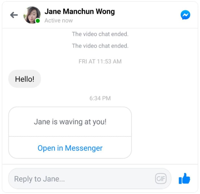 Facebook Chats invite to Messenger