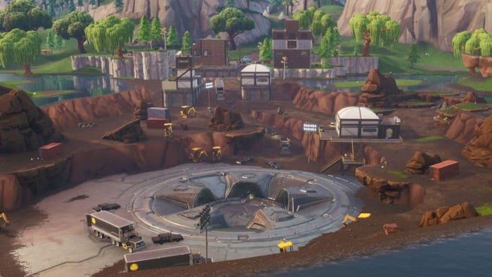 fortnite loot lake dig site