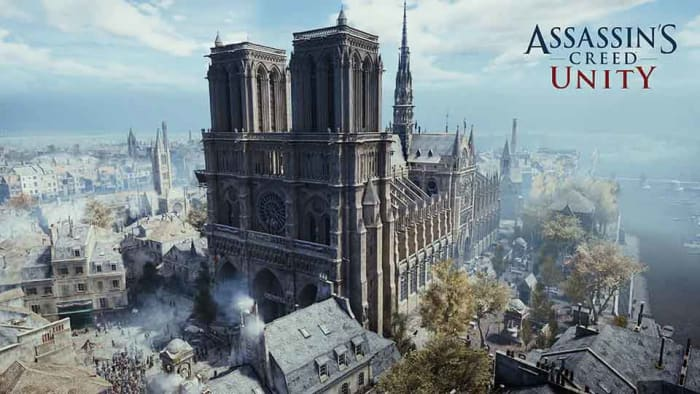 Notre Dame cathedral in Assassin's Creed