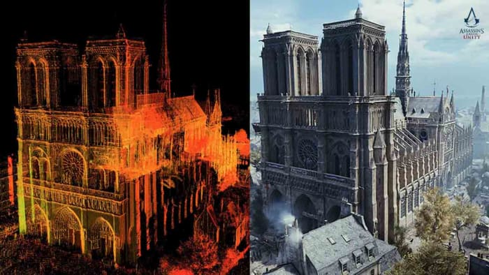 digital and virtual representations of Notre Dame