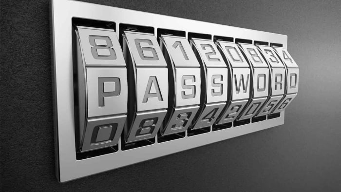 a password combination lock