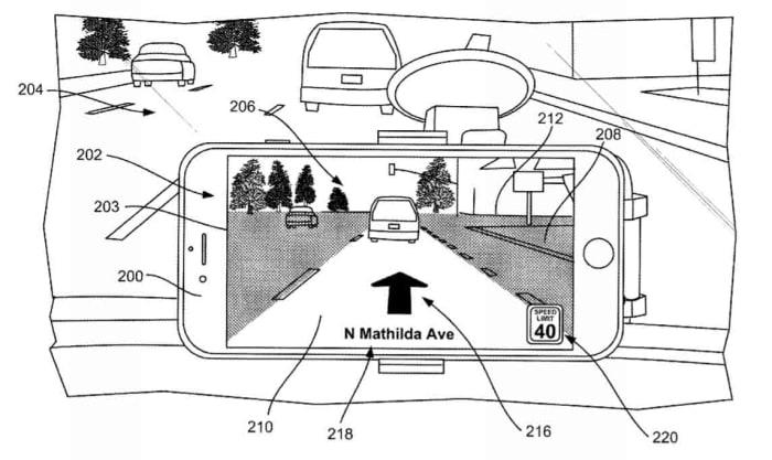 Apple Maps AR patent