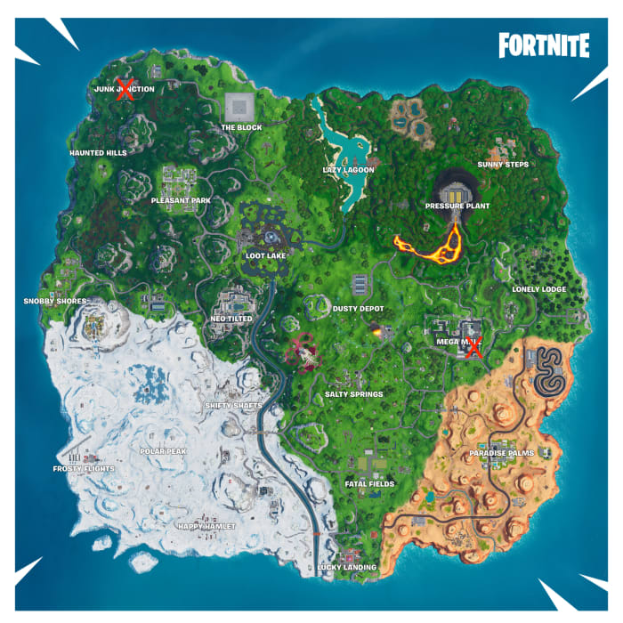 fortnite season 10 week 2 tagging map