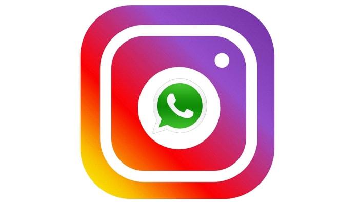 WhatsApp logo inside the Instagram logo