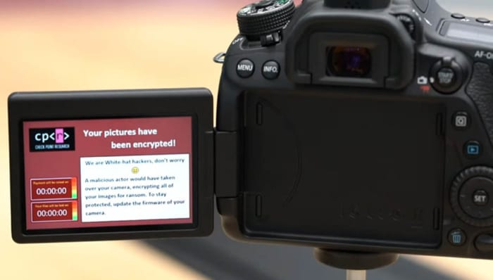 ransomware on a canon eos 80d