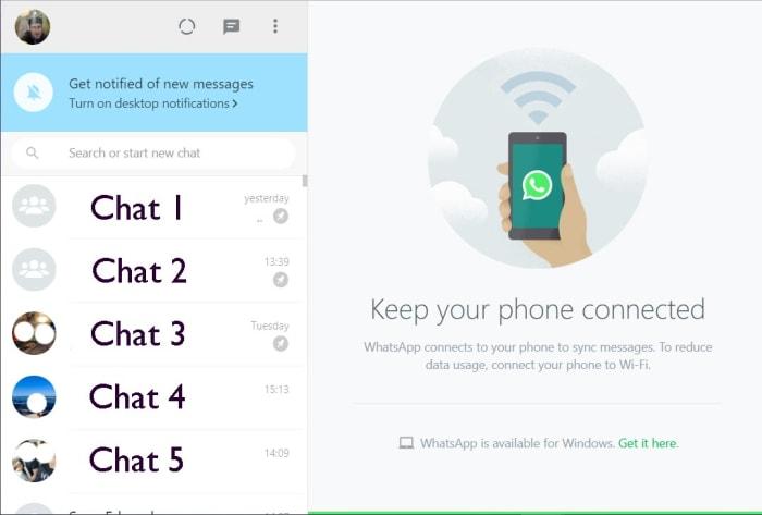 WhatsApp Web window