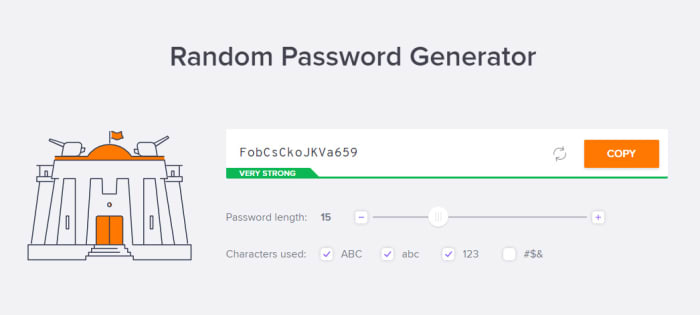Avast password generator