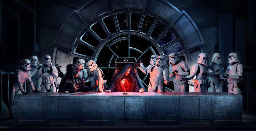 Fondo de escritorio de la última cena con Star Wars