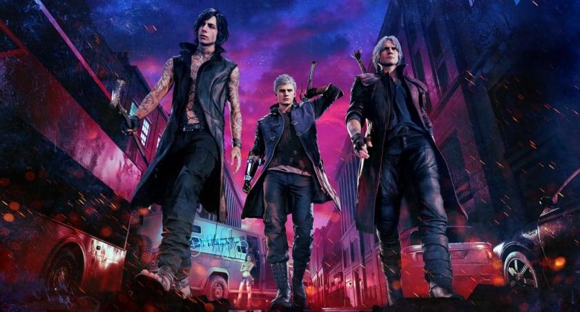 V, Nero y Dante en Devil May Cry 5