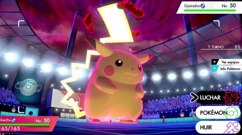Combates gigantes en Pokémon Espada y Escudo para Switch