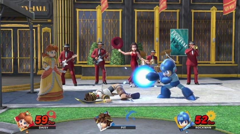 La princesa Daisy contra Mega Man (Rockman)