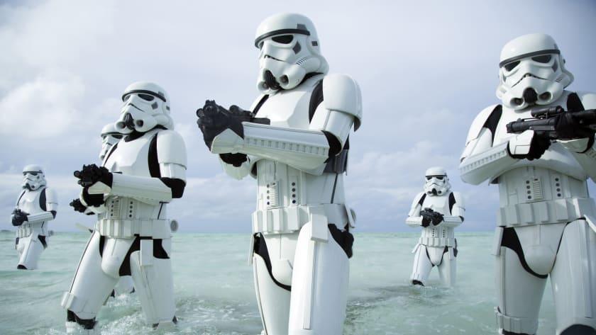Fondo de pantalla con Storm Troopers