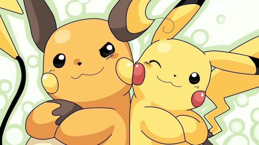 Fondo de escritorio Pikachu y Raichu