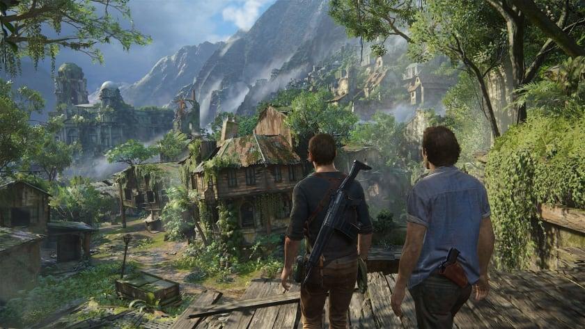 Nathan y Sam Drake en Uncharted 4