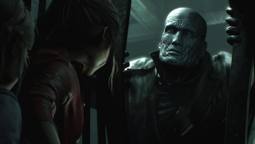Claire, Sherry y Mister X en Resident Evil 2 Remake