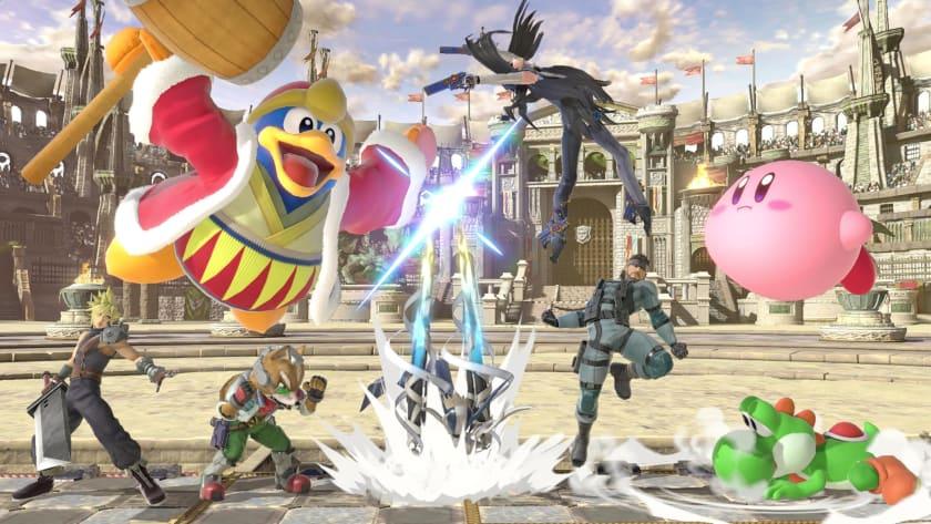 Alocada pelea de Super Smash Bros Ultimate