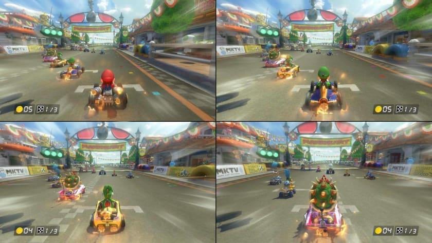 Carreras de hasta 4 jugadores en Mario Kart 8 Deluxe