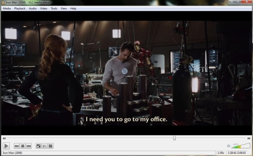 Interfaz de VLC Media Player