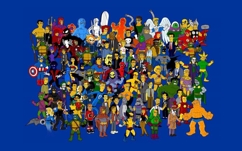 Fondo de pantalla geek con superhéroes