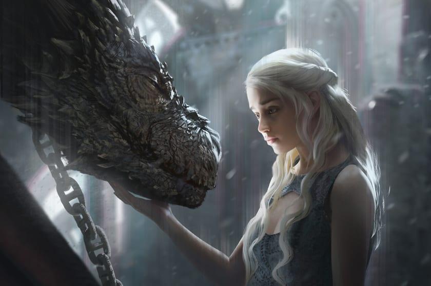 Fondo de escritorio de Juego de Tronos Daenerys Drogon