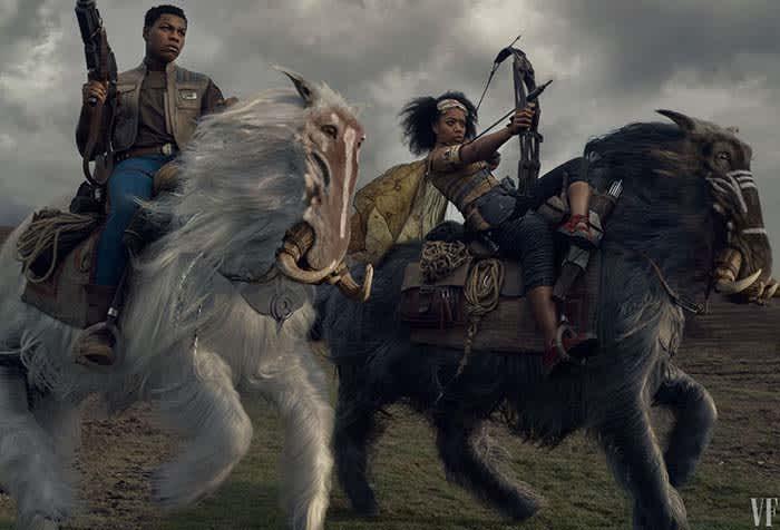 Star Wars horse fight