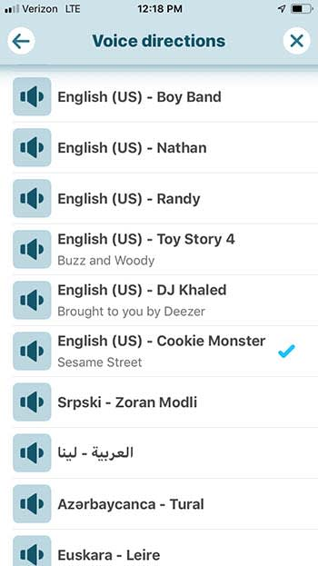 Change the voice on Waze to Cookie Monster, Woody, and more