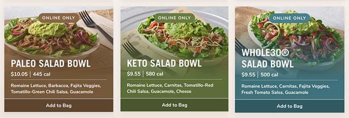 Chipotle Salads