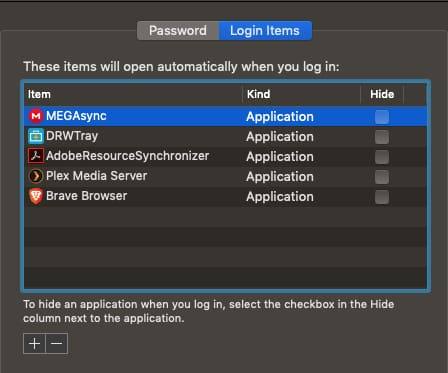 Mac Login Items