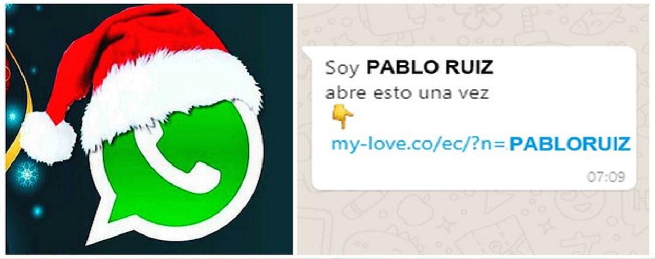 Ten cuidado con el virus navideño de WhatsApp!