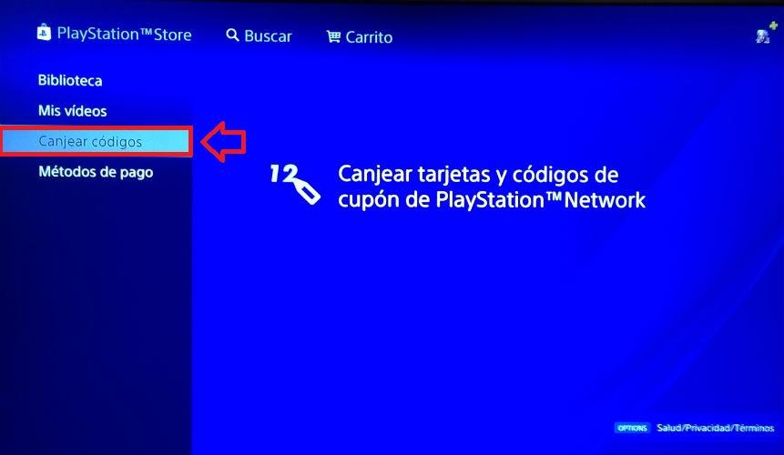 Cómo canjear un código de PS4