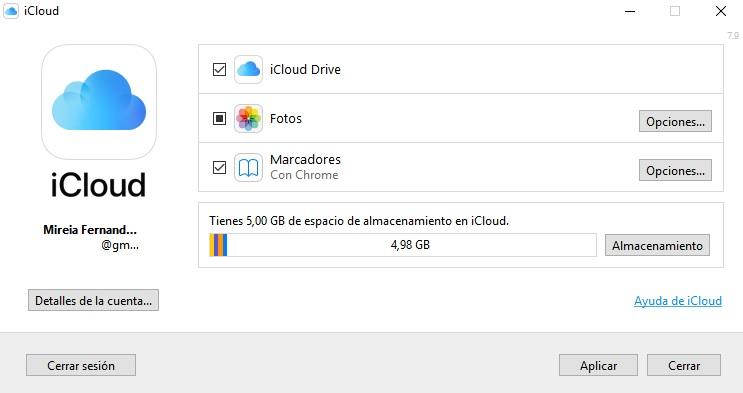 Cómo instalar y usar iCloud para Windows