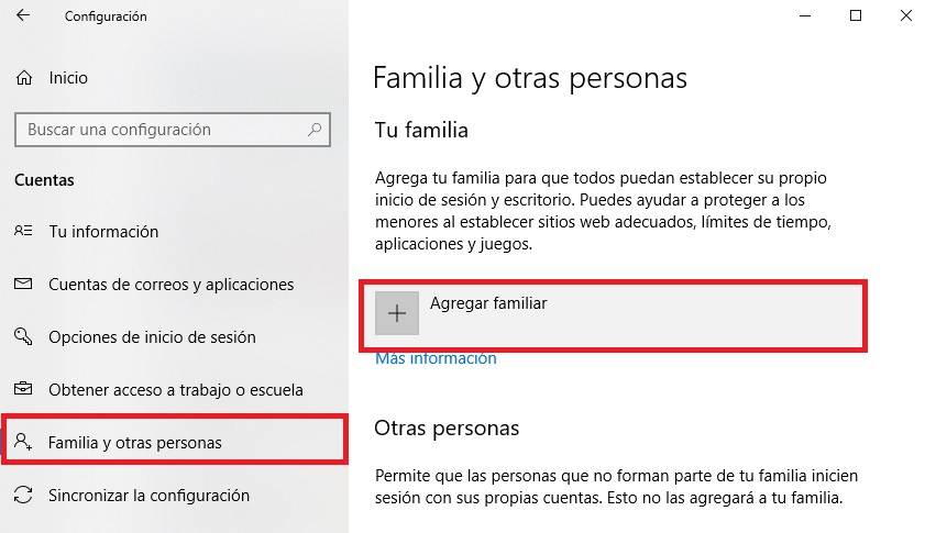 Cómo configurar el Control Parental: Windows 10