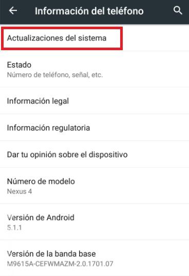 Cómo actualizar un móvil o tableta Android
