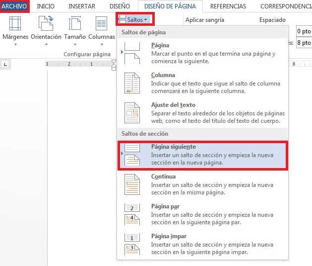Cómo numerar las páginas en Word