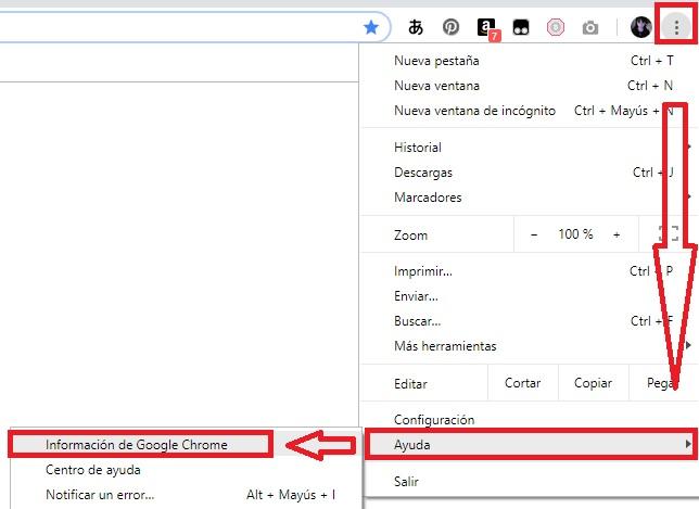 Cómo actualizar Chrome