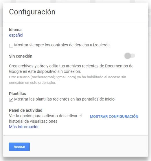 Cómo usar offline Google Docs