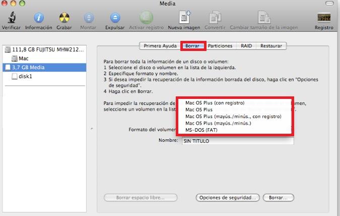 Cómo formatear un pendrive USB en Mac