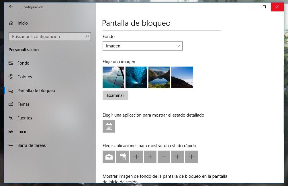 Windows 10: cómo personalizar la pantalla de bloqueo