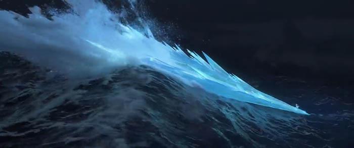Frozen ocean