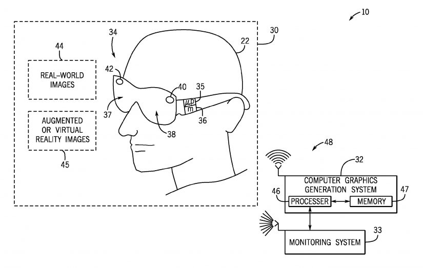 Augmented reality goggles mario kart ride patent universal