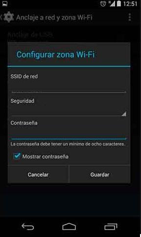 Cómo compartir datos con tu móvil Android