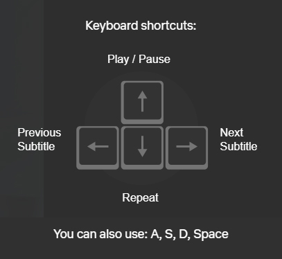learn languages netflix keyboard shortcuts