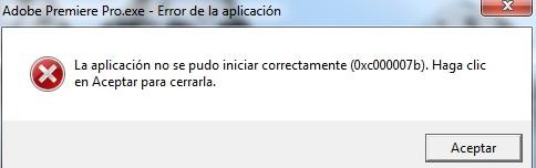 """Solución al error de Windows """"La aplicación no se pudo iniciar correctamente (0xc000007b)"""""""