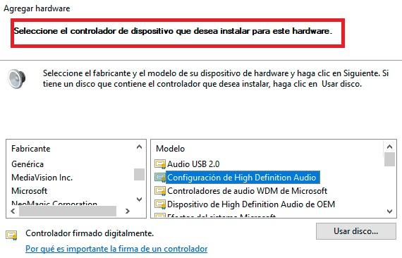 """Solución al error """"ningún dispositivo de salida de audio instalado"""""""