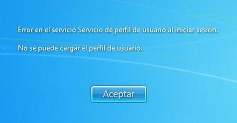 """Cómo solucionar """"Error en el servicio de perfil de usuario al iniciar la sesión"""""""