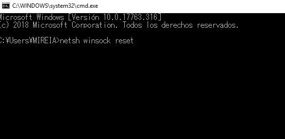 """Solución al error """"Ethernet no tiene una configuración IP válida"""""""